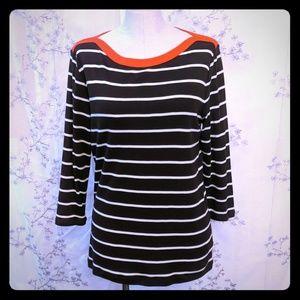 Ralph Lauren striped shirt long sleeve top brown